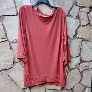 Blouse salmon color size 2X